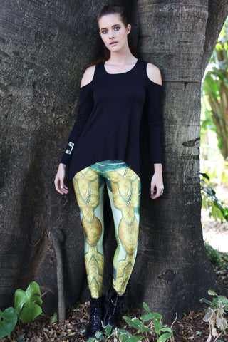 Red Dragon Queen Leggings