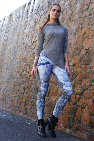 Silver Battle Maille Leggings