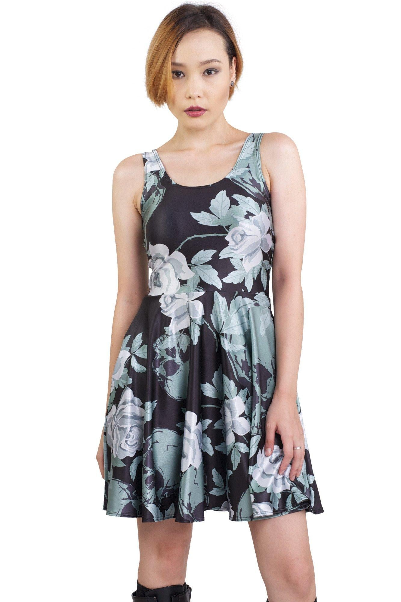 Garden Of Graves Pocket Skater Dress