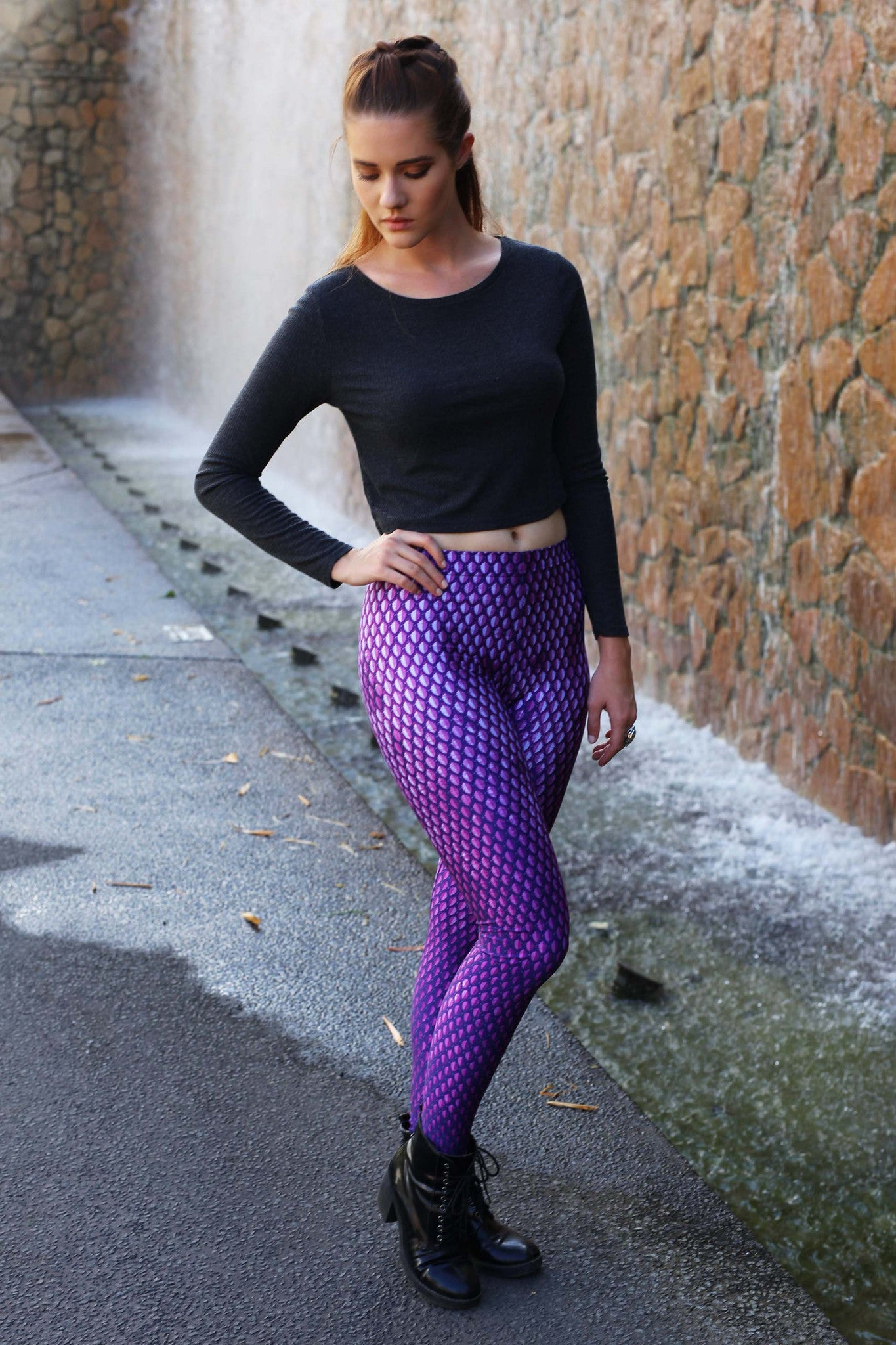 Purple Battle Maille Leggings