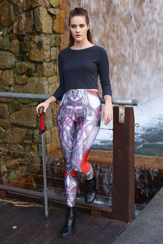 Green Battle Maille Leggings