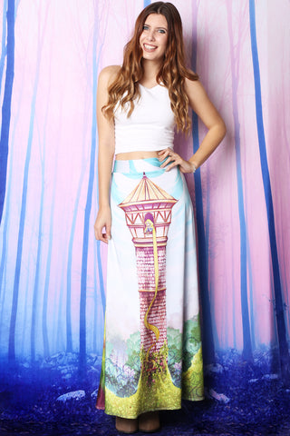 Rose Vine Maxi Skirt