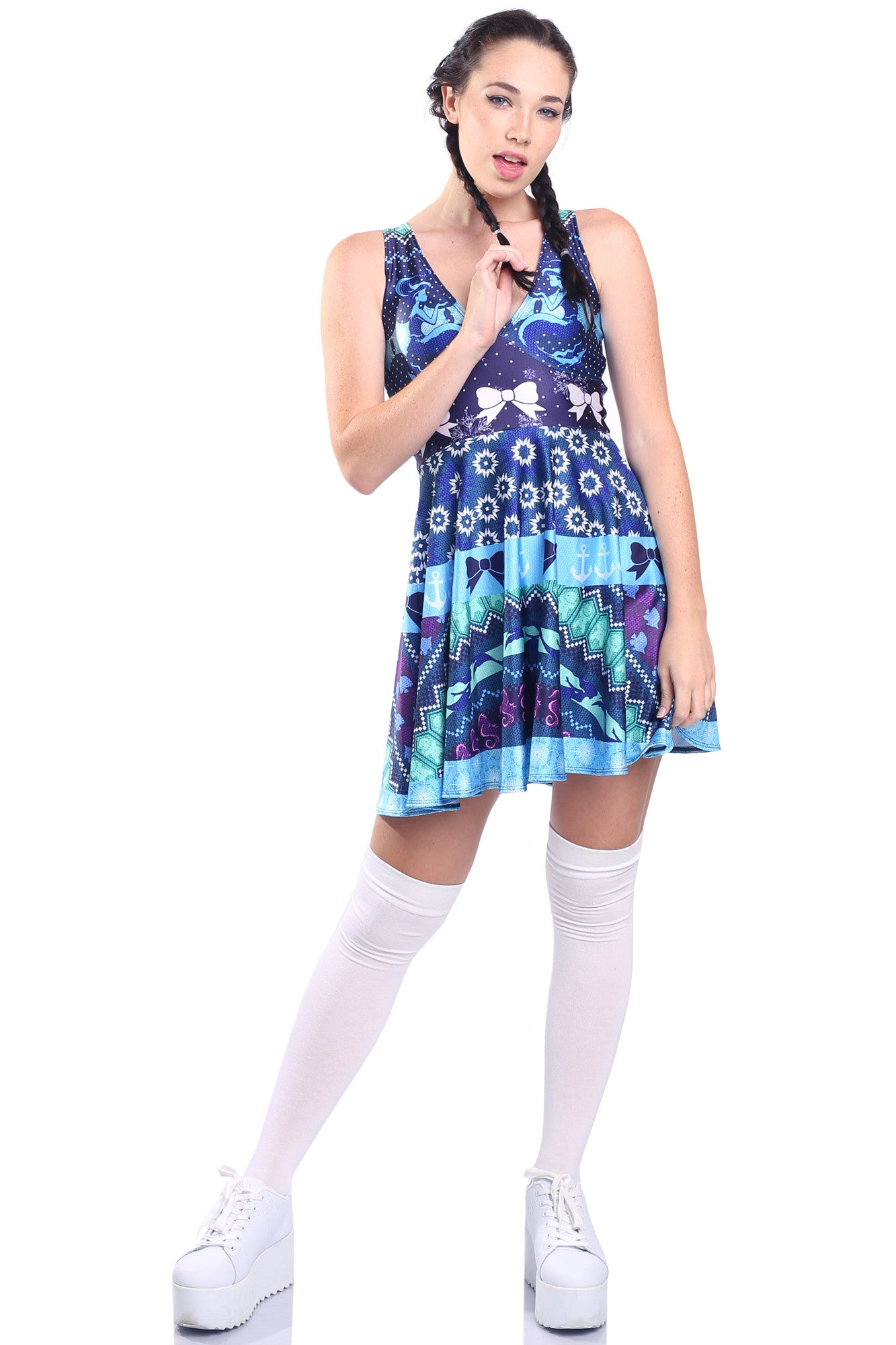 Mermaid Ugly Christmas Happy Hour Dress