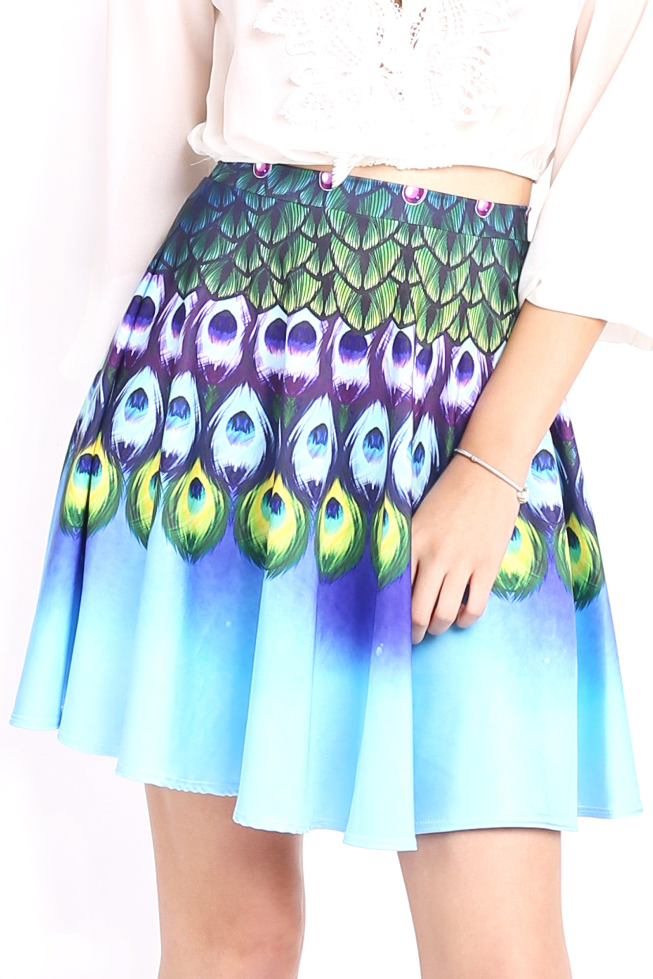 Peacock Fairy Skater Skirt