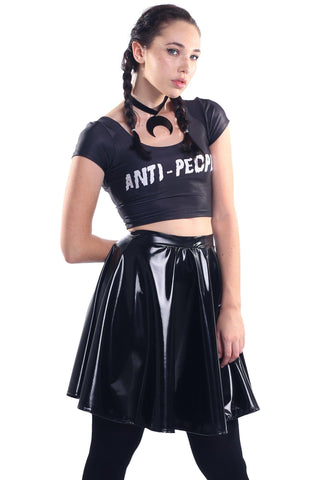 Black Dragon Queen High Neck Crop