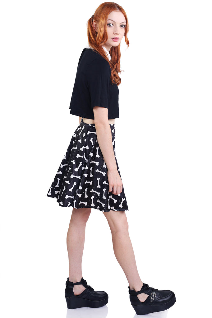 No Bones About It Skater Skirt