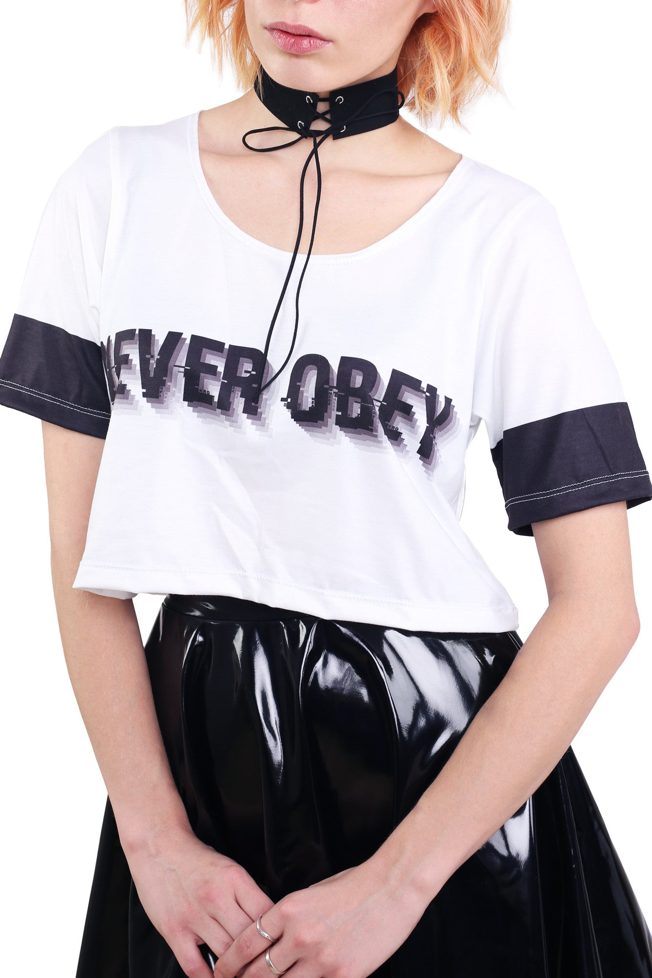 Never Obey Tee Crop