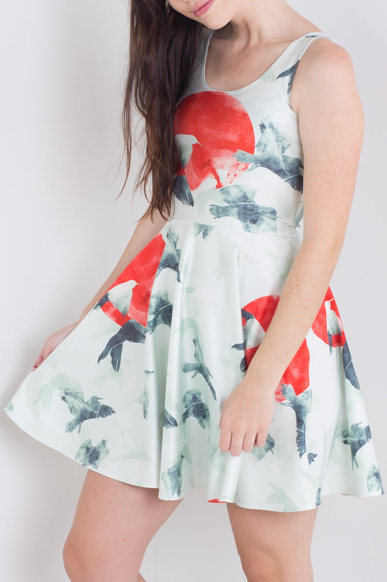 Into The Red Sun Pocket Skater Dress