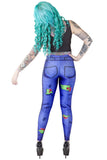 Zombie Jeans Leggings - LIMITED