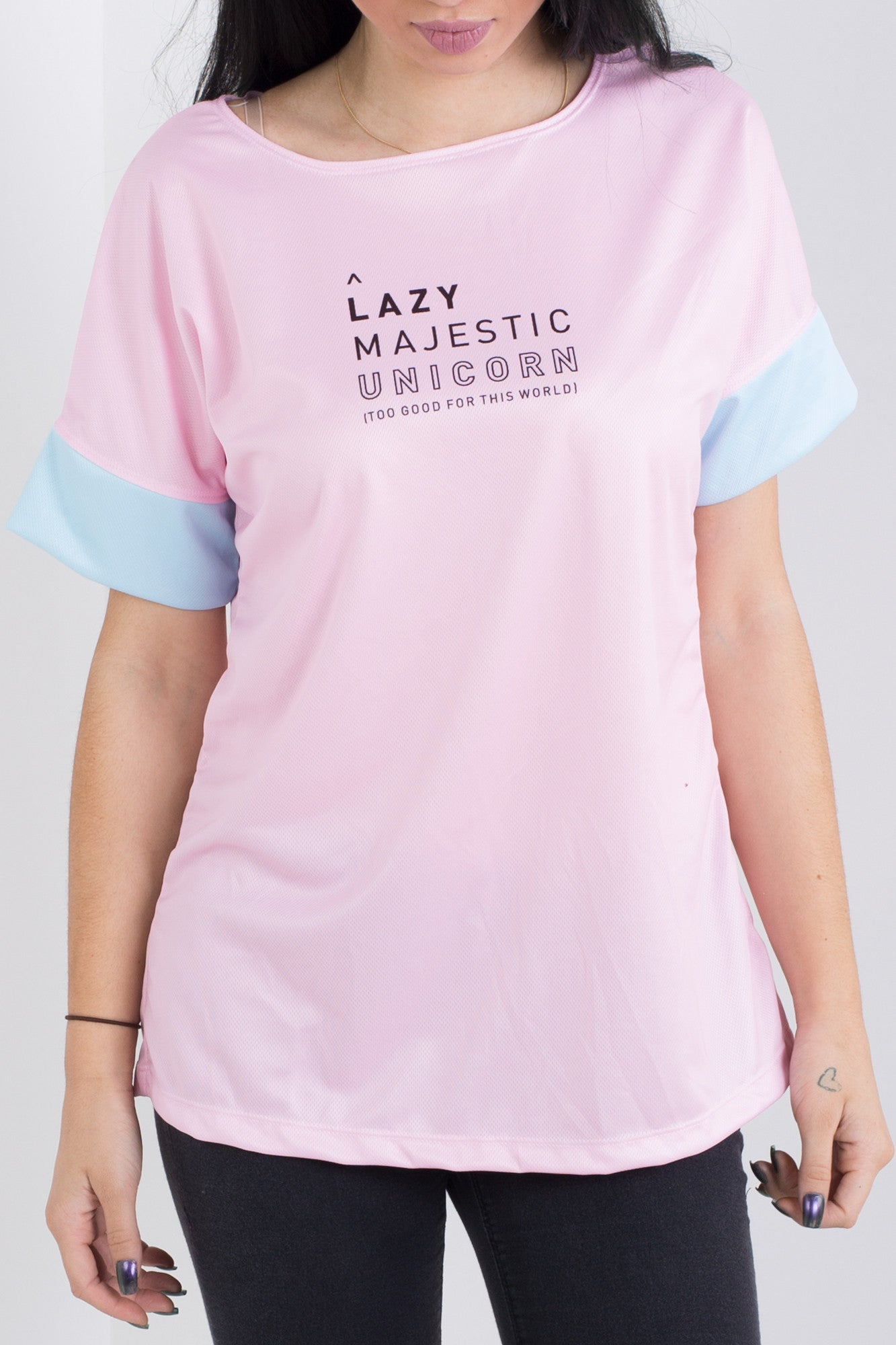 Lazy Majestic Unicorn Triple Threat Tee
