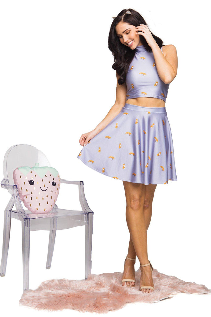 Foxy High Neck Crop and Foxy Skater Skirt  Set