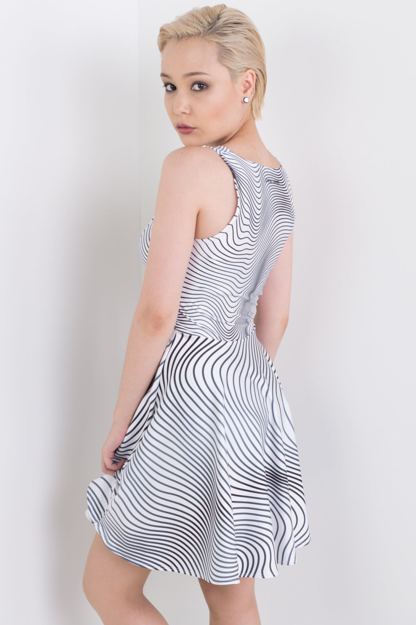 Lucid Lines Happy Hour Dress