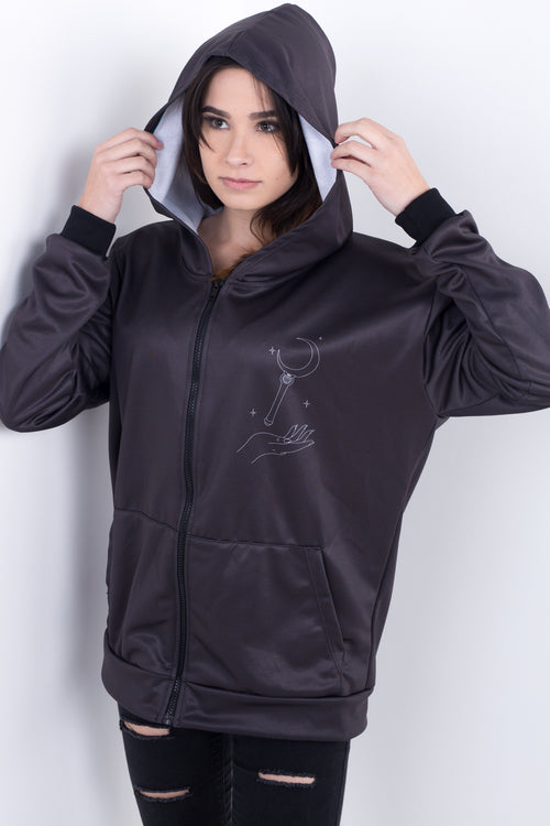 Magical Girl Wand Zipper Hoodie