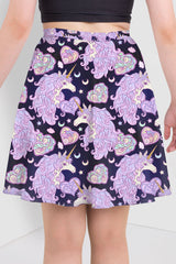Magical Unicorn Night Skater Skirt