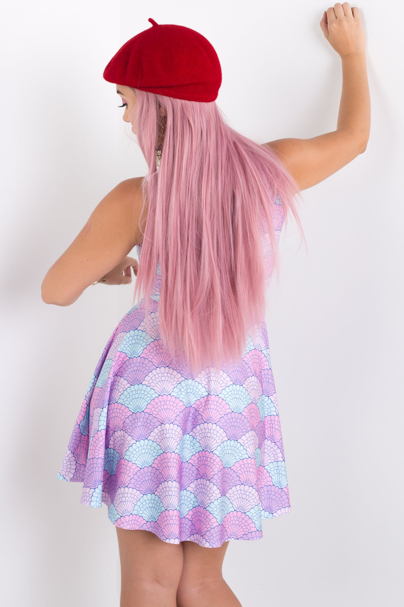 Mermaid Shells Skater Dress