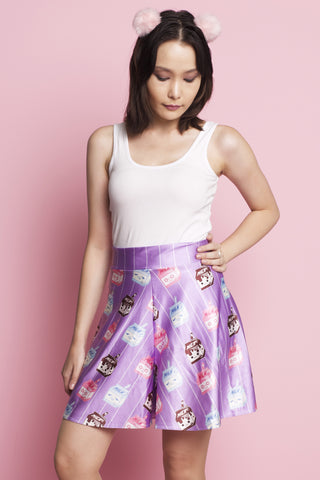 Kawaii Unicorn High Waisted Shorts