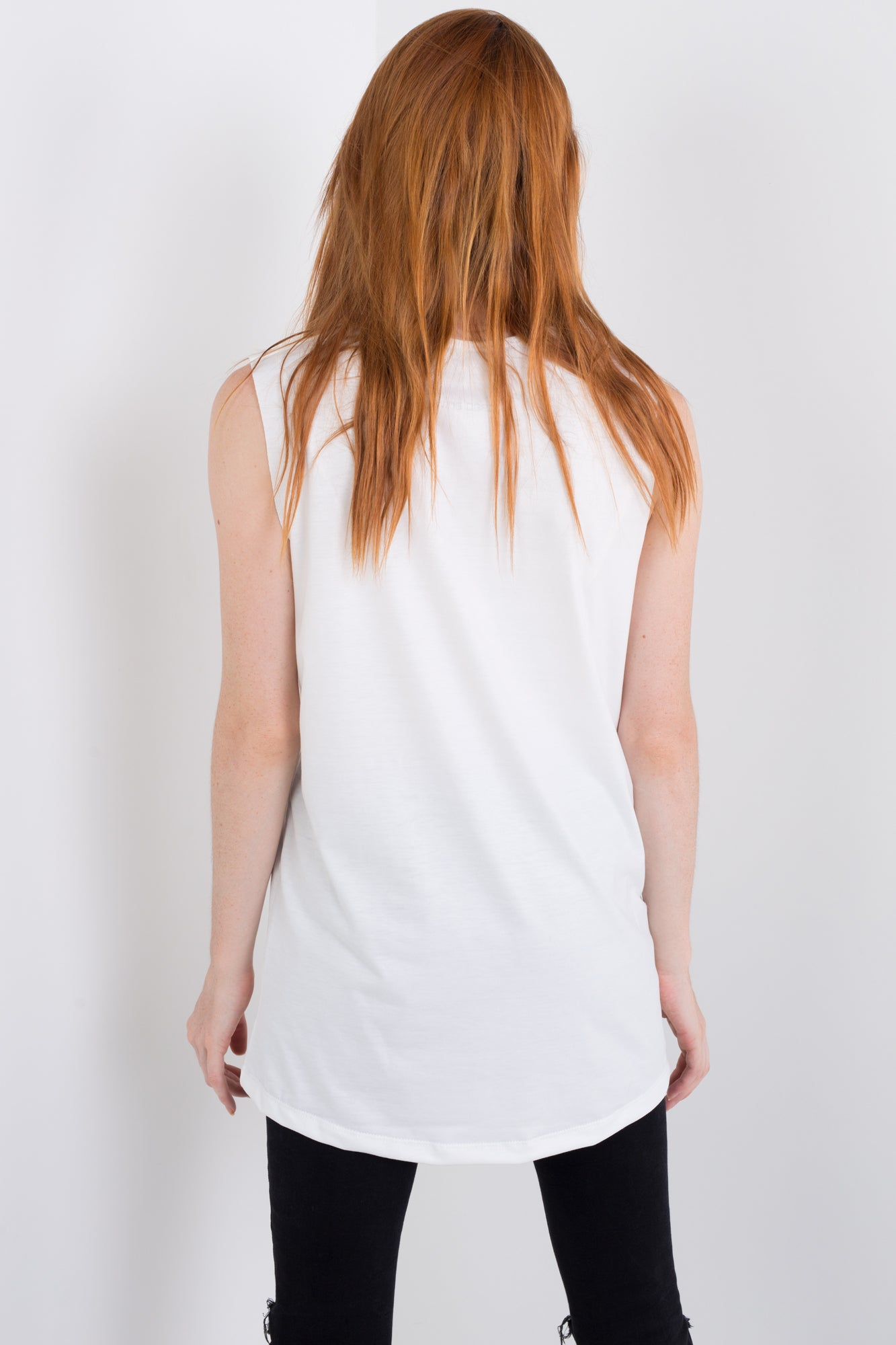 Moon Glitch Sleeveless Tee