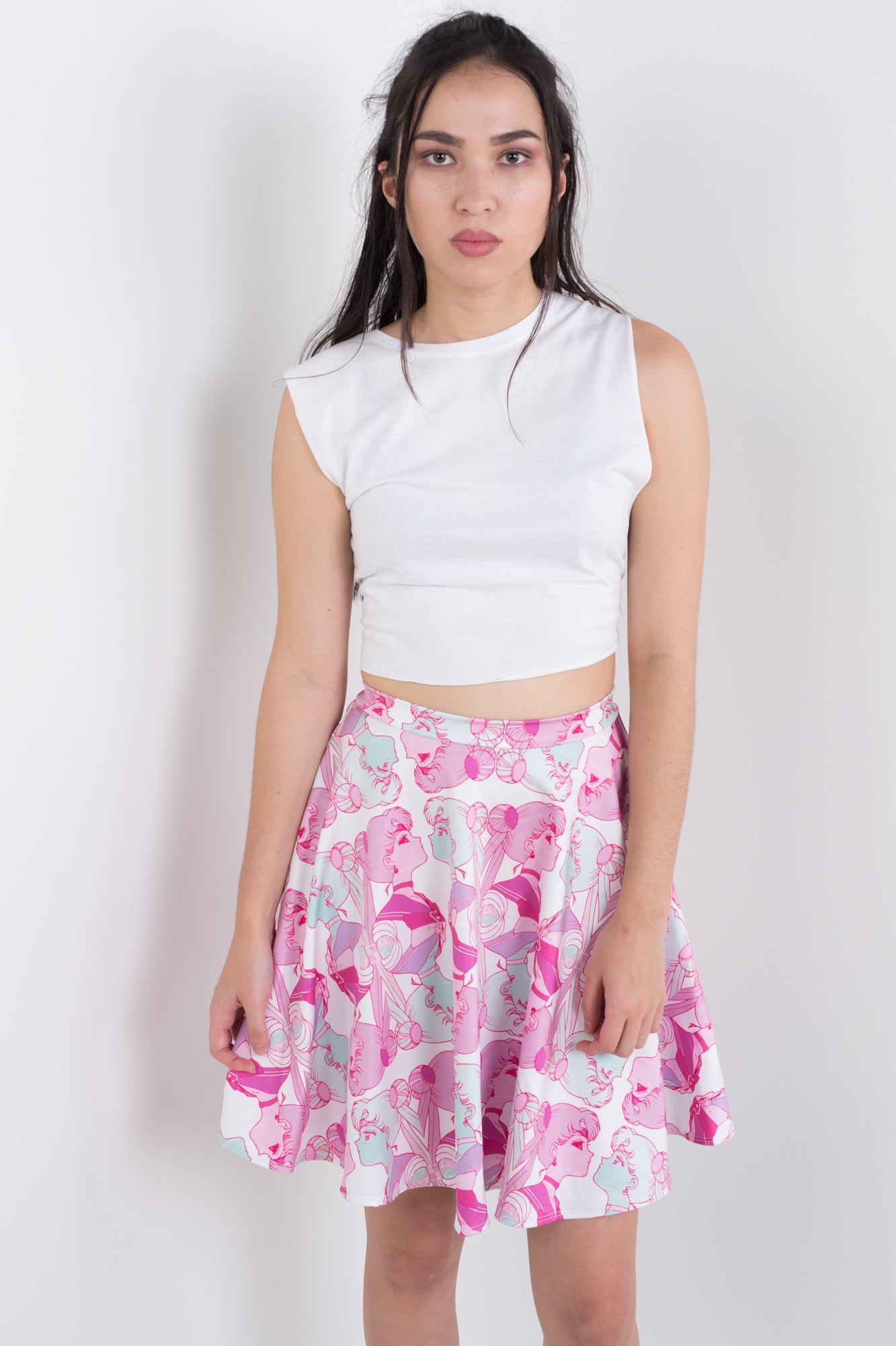 Moon Split Skater Skirt