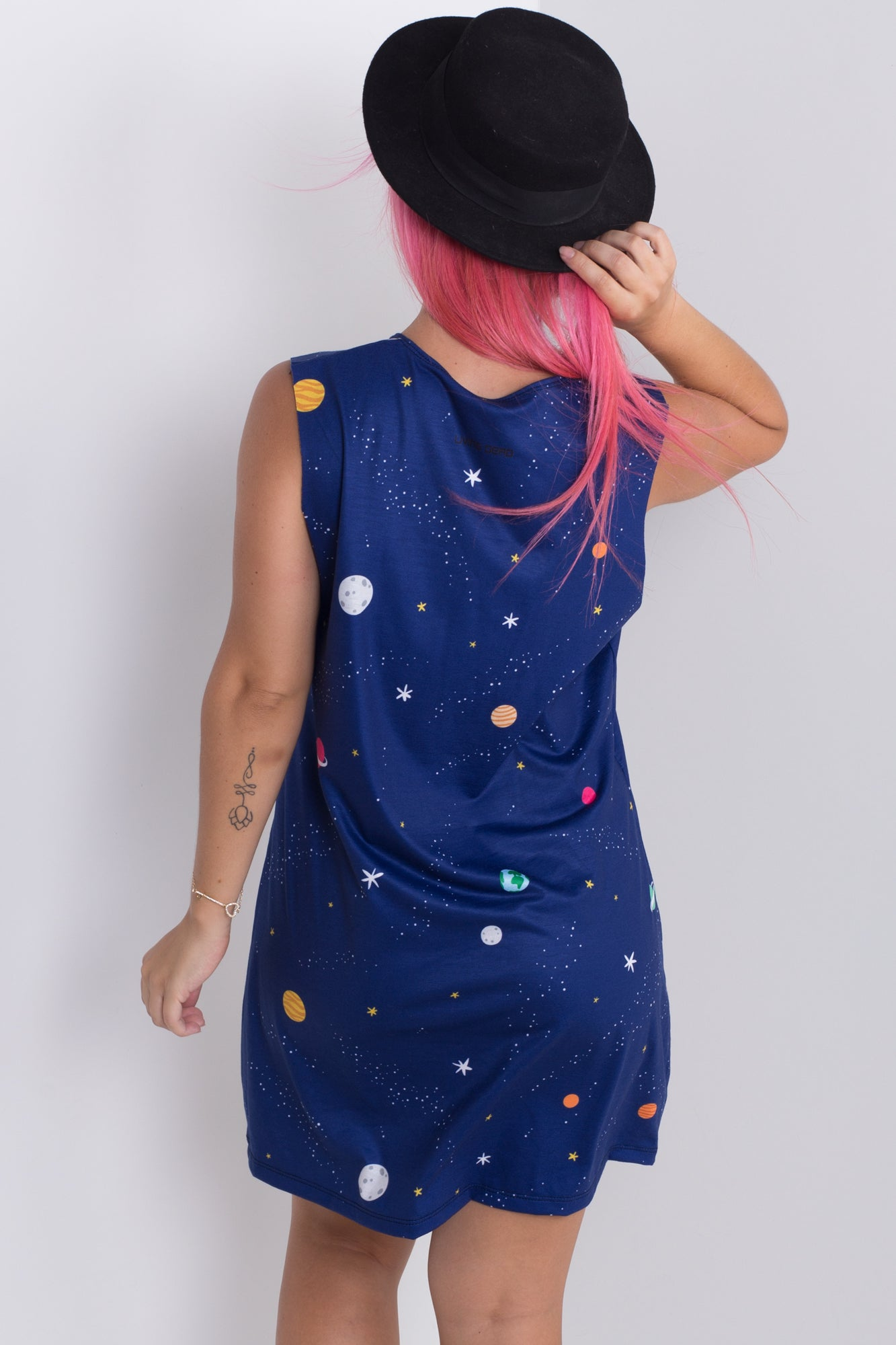 Night In Space Sleeveless Tee Dress