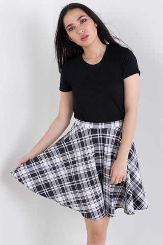 Classic Plaid Skater Skirt