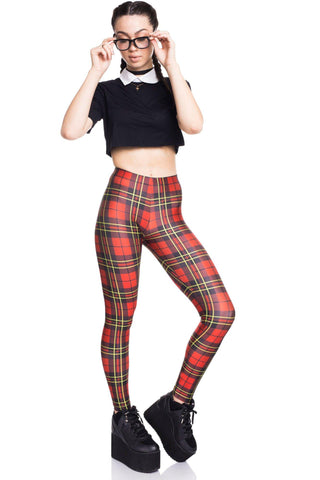 Candy Plaid Leggings