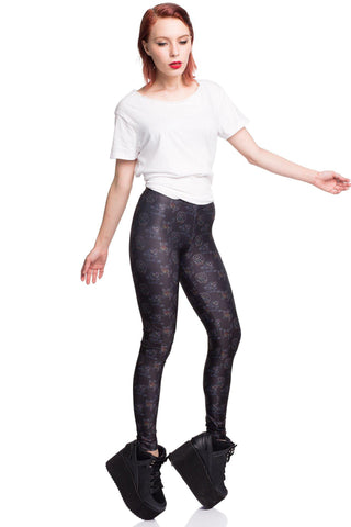 Blue Battle Maille Leggings