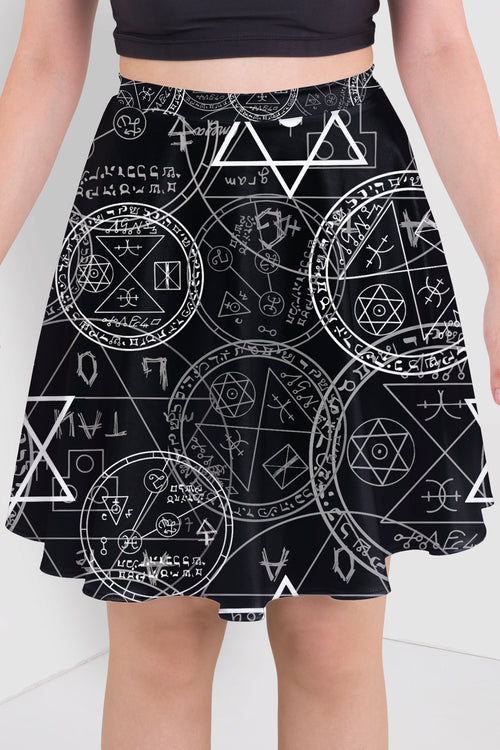 Old Manuscript Skater Skirt