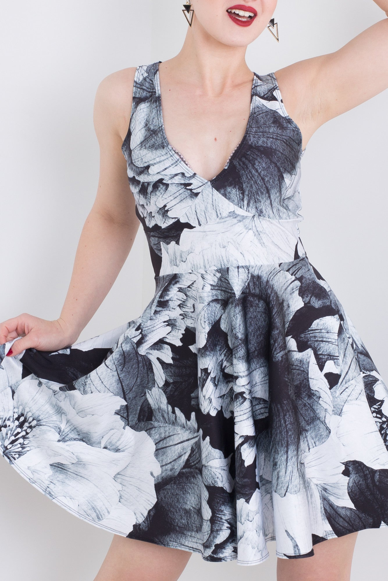 Opium Poppy Pocket Happy Hour Dress