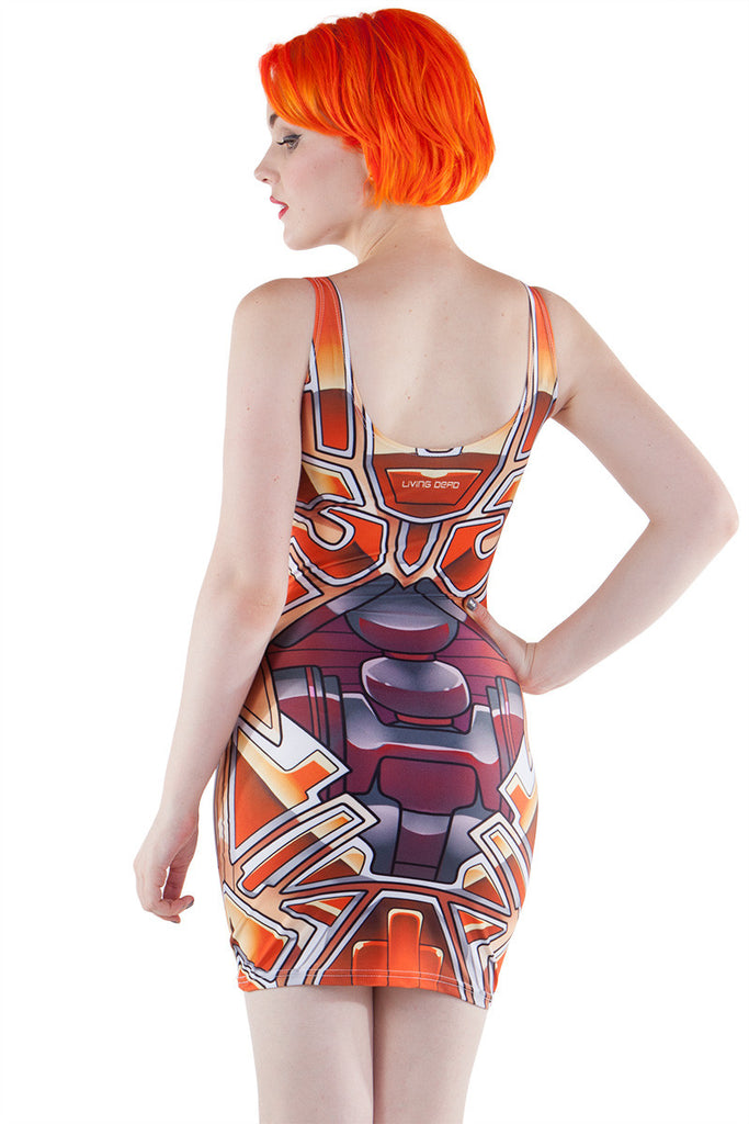 Orange Bionic Bodycon - LIMITED