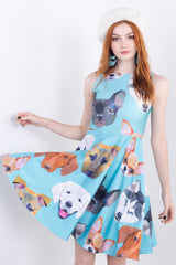 Origami Dogs Midi Vogue Dress