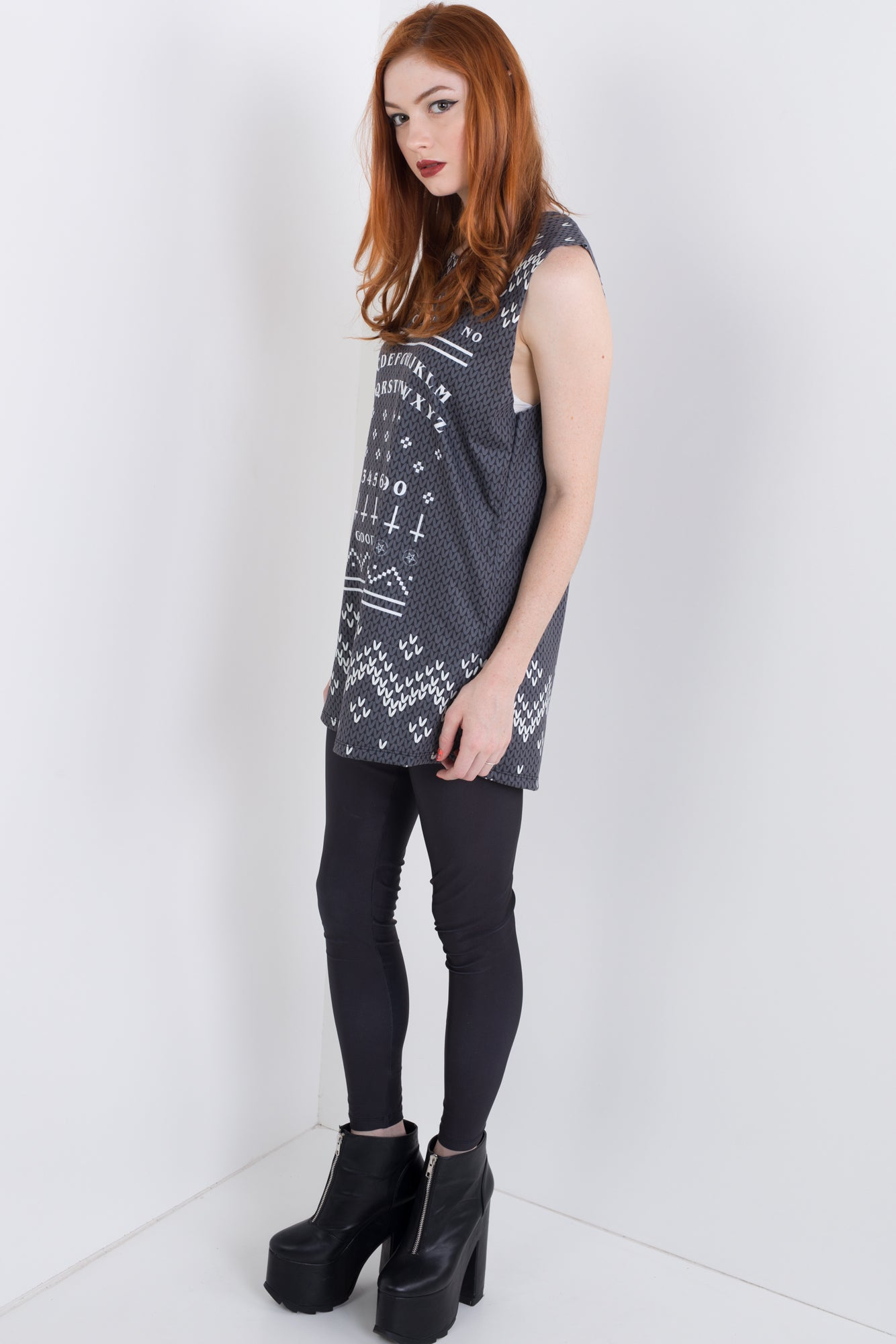 Ouija Knitted Christmas Sleeveless Tee