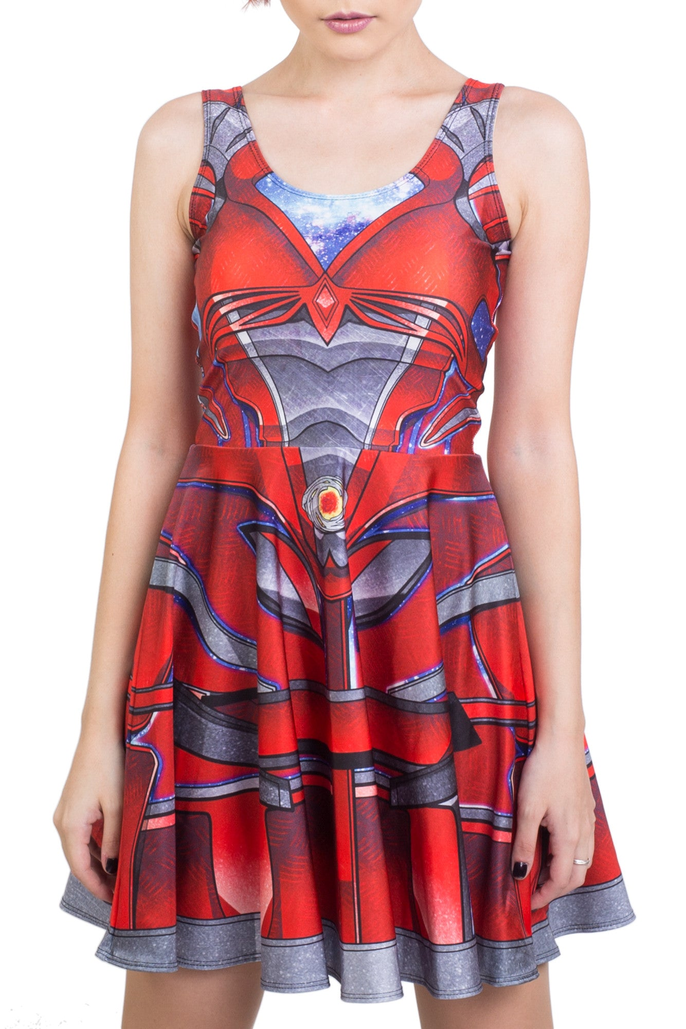 PR Red Cosplay Skater Dress