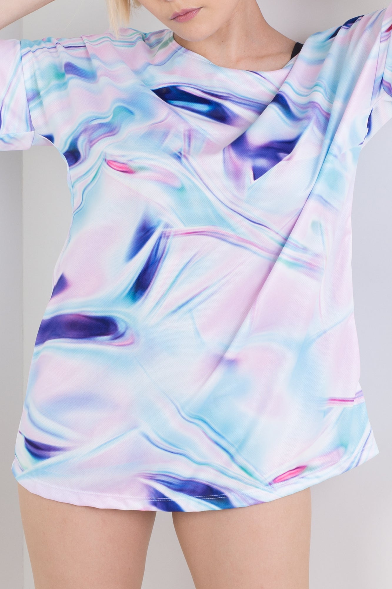 Painted Holographic Triple Threat Tee