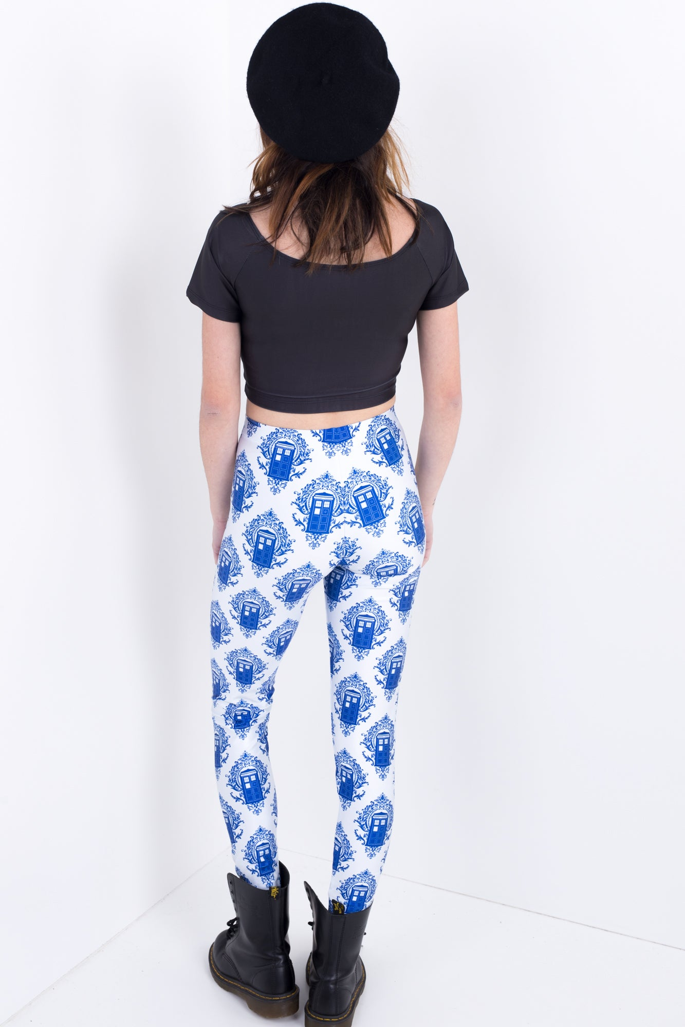 Police Box Damask Leggings