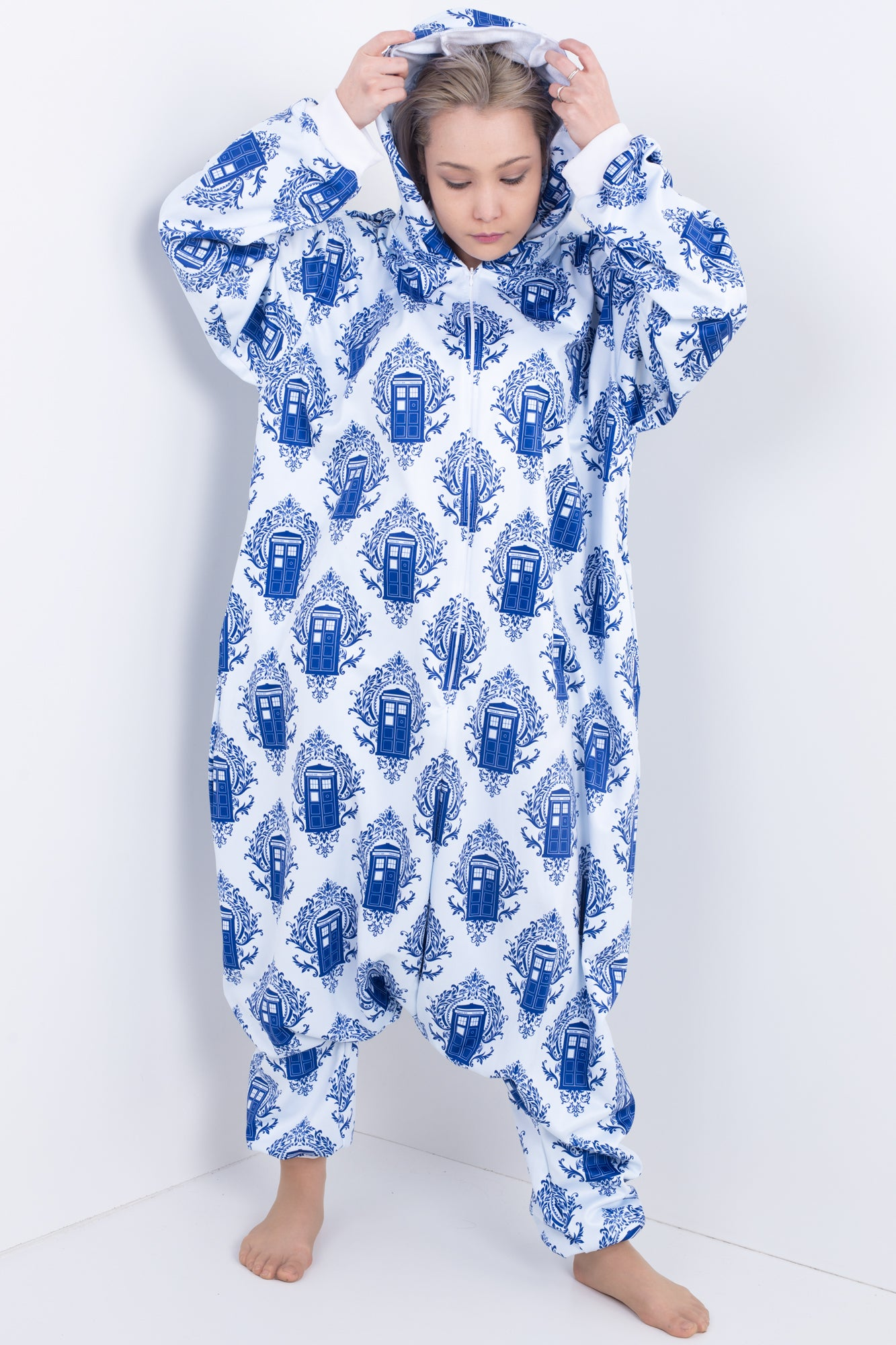 Police Box Damask Onesie