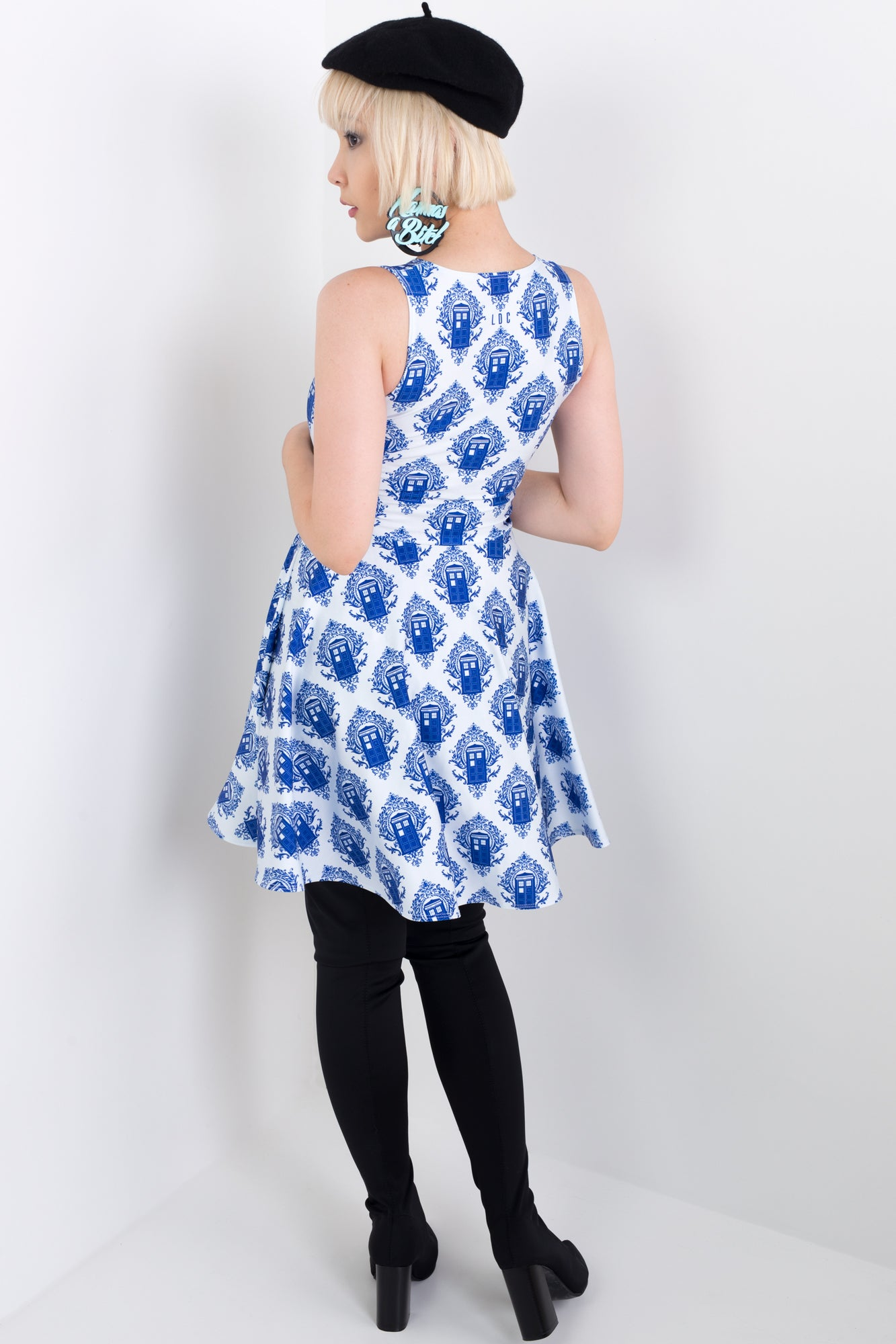 Police Box Damask Vogue Dress