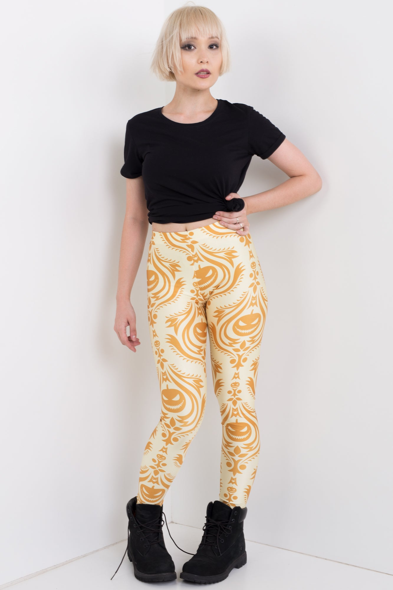 Pumpkin Head Leggings