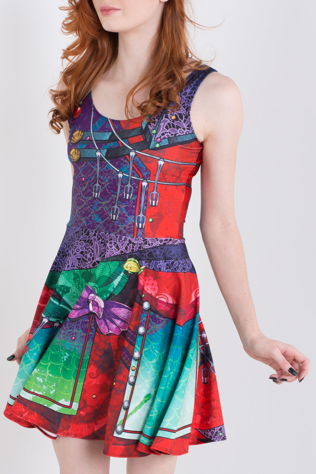 Punk Princess Ariel Skater Dress