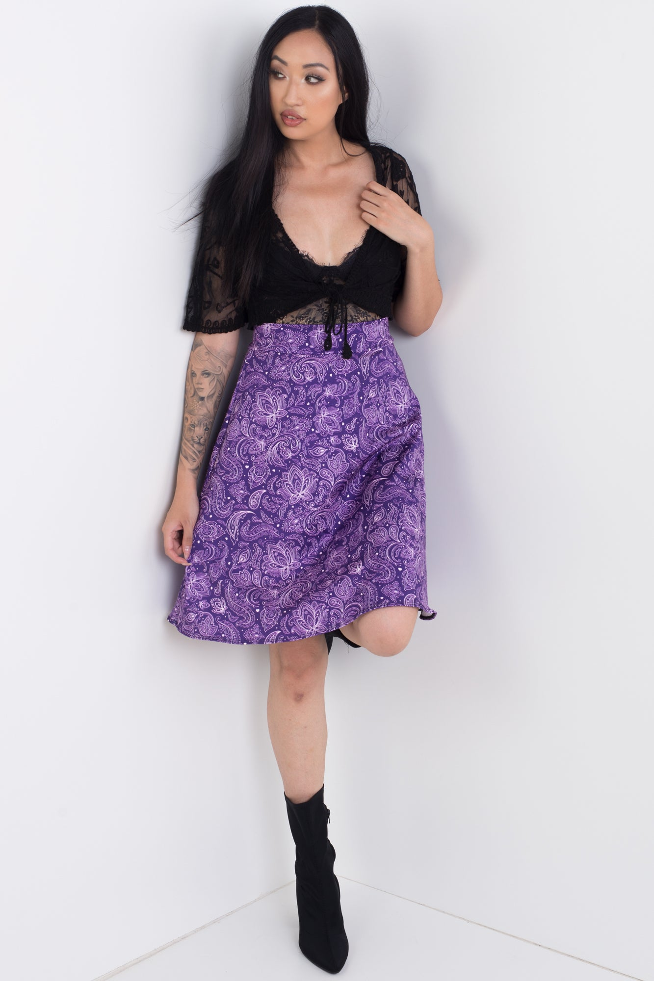 Purple Dream Midi Skirt