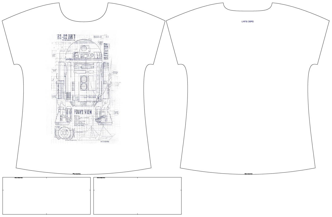 R2D2 Blueprint Triple Threat Tee