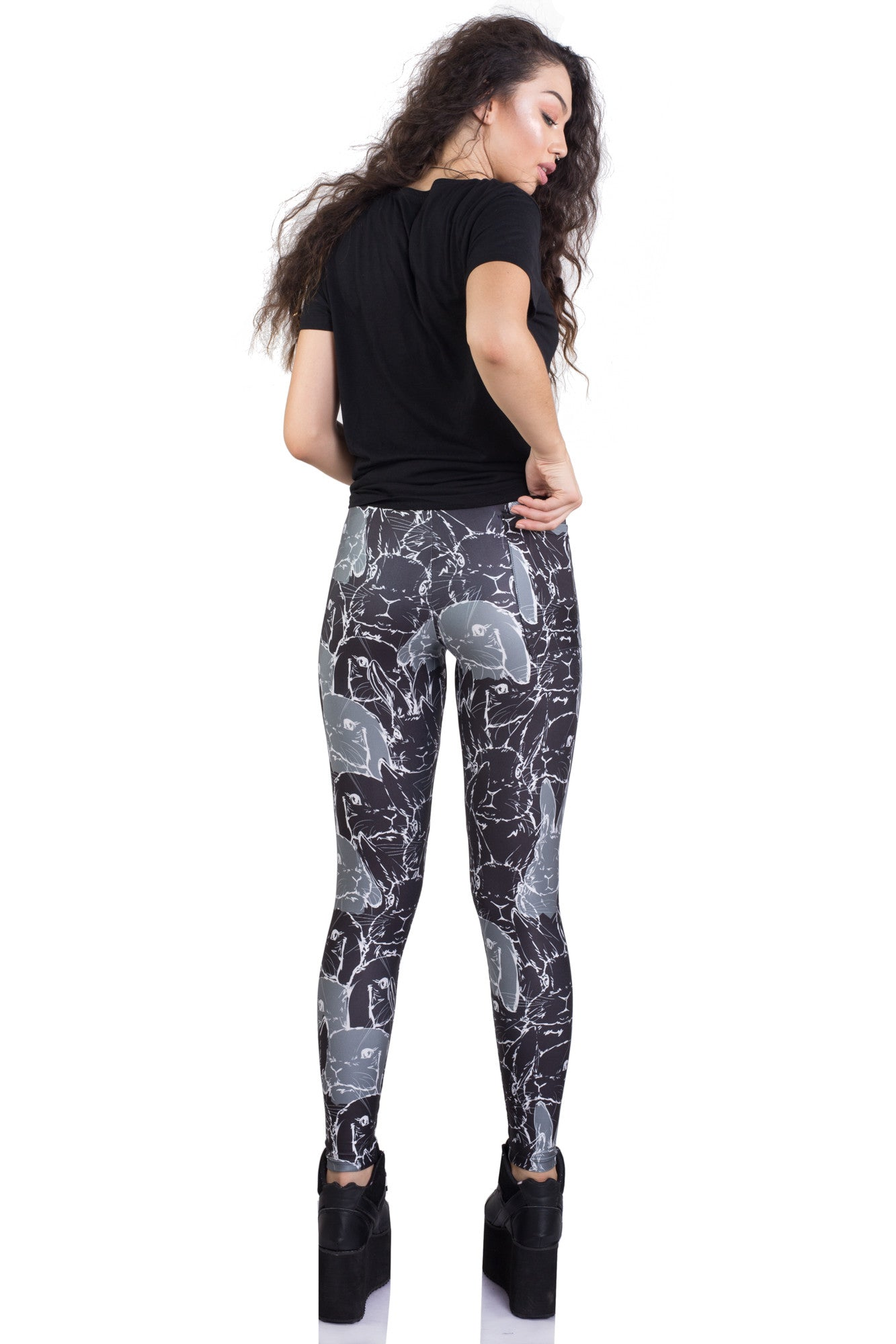 Rabbit Party Pocket Leggings