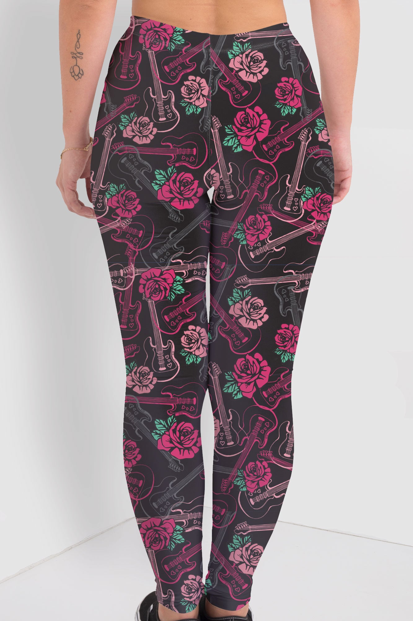 Roses N Guitars Leggings