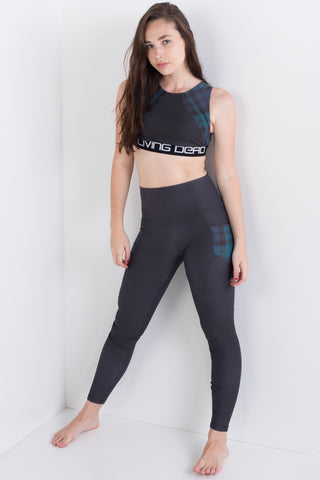 Garden Of Skulls Compression Crop Top