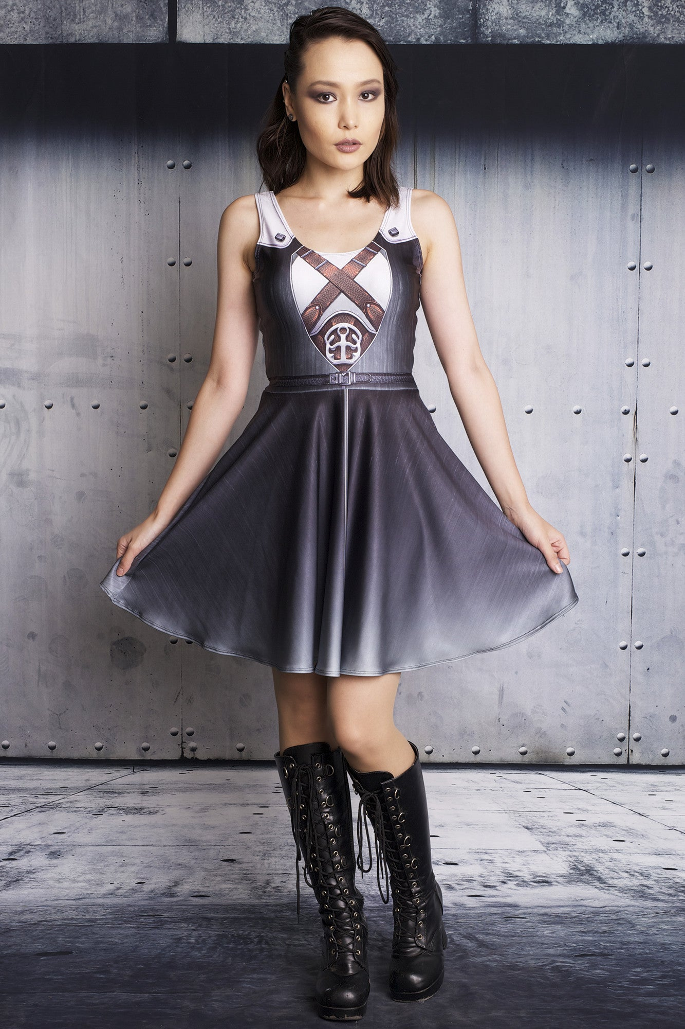Sephiroth Cosplay Skater Dress