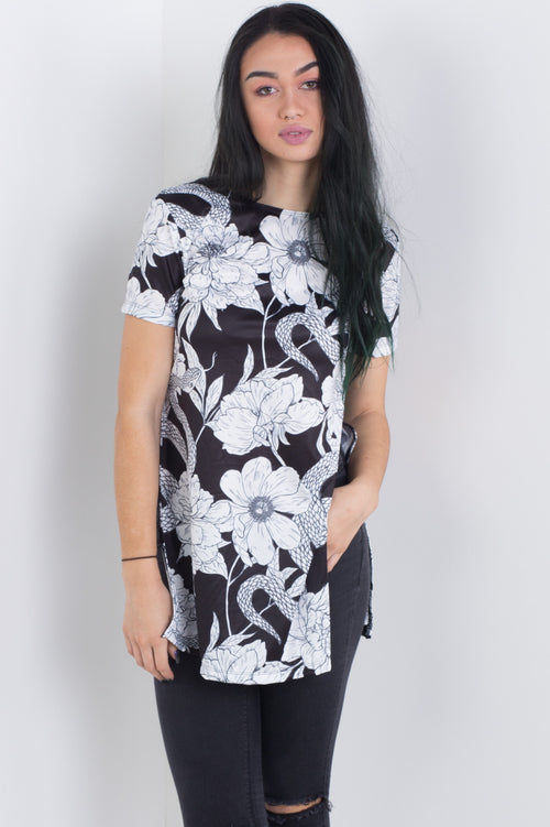 Serpents Garden Side Split Tee