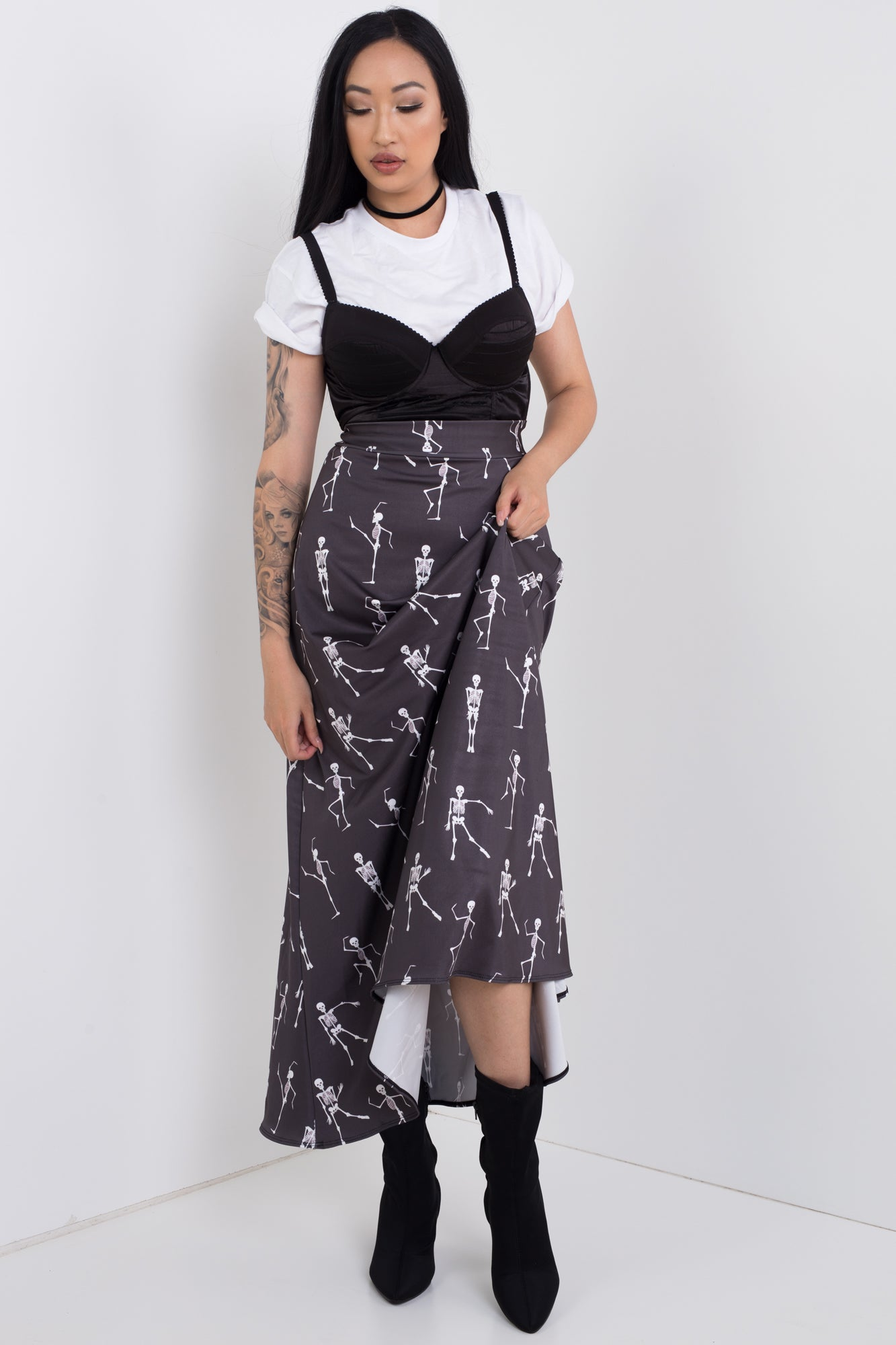 Skeleton Boogie Maxi Skirt