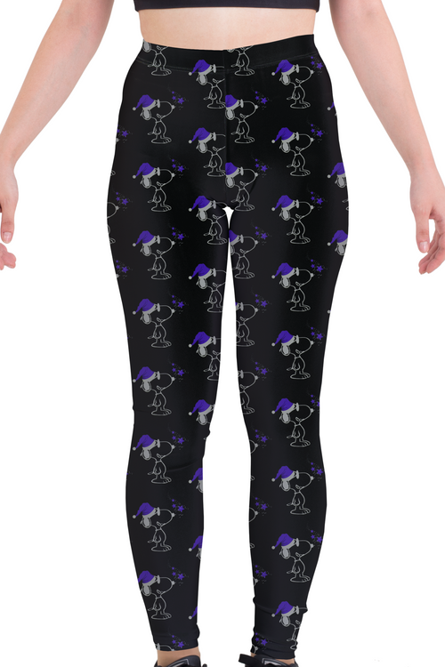 Snoopy Christmas Purple Leggings