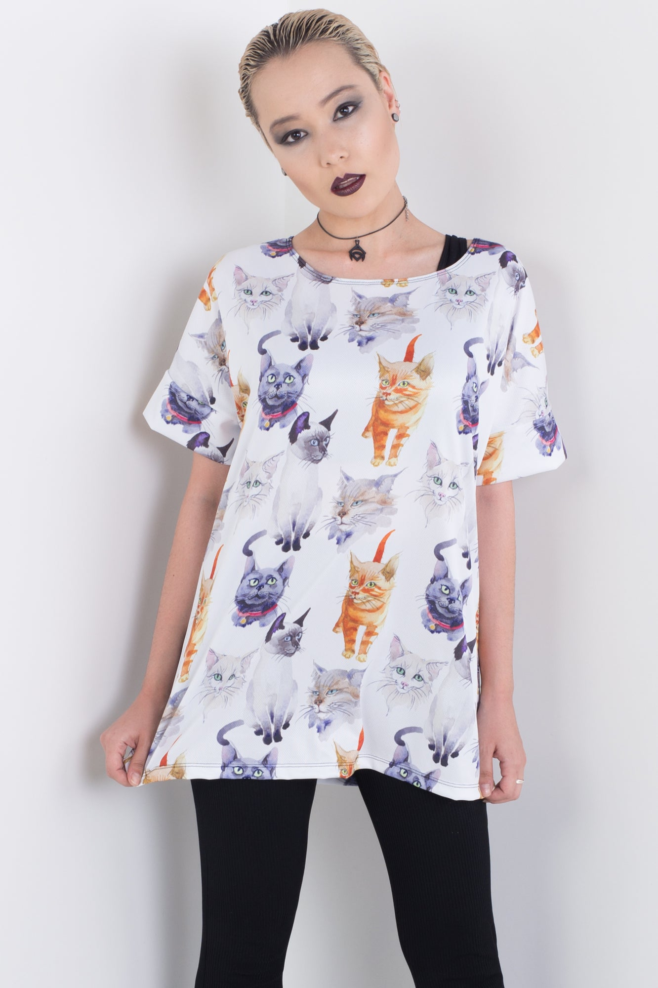 Soft Kitty Triple Threat Tee