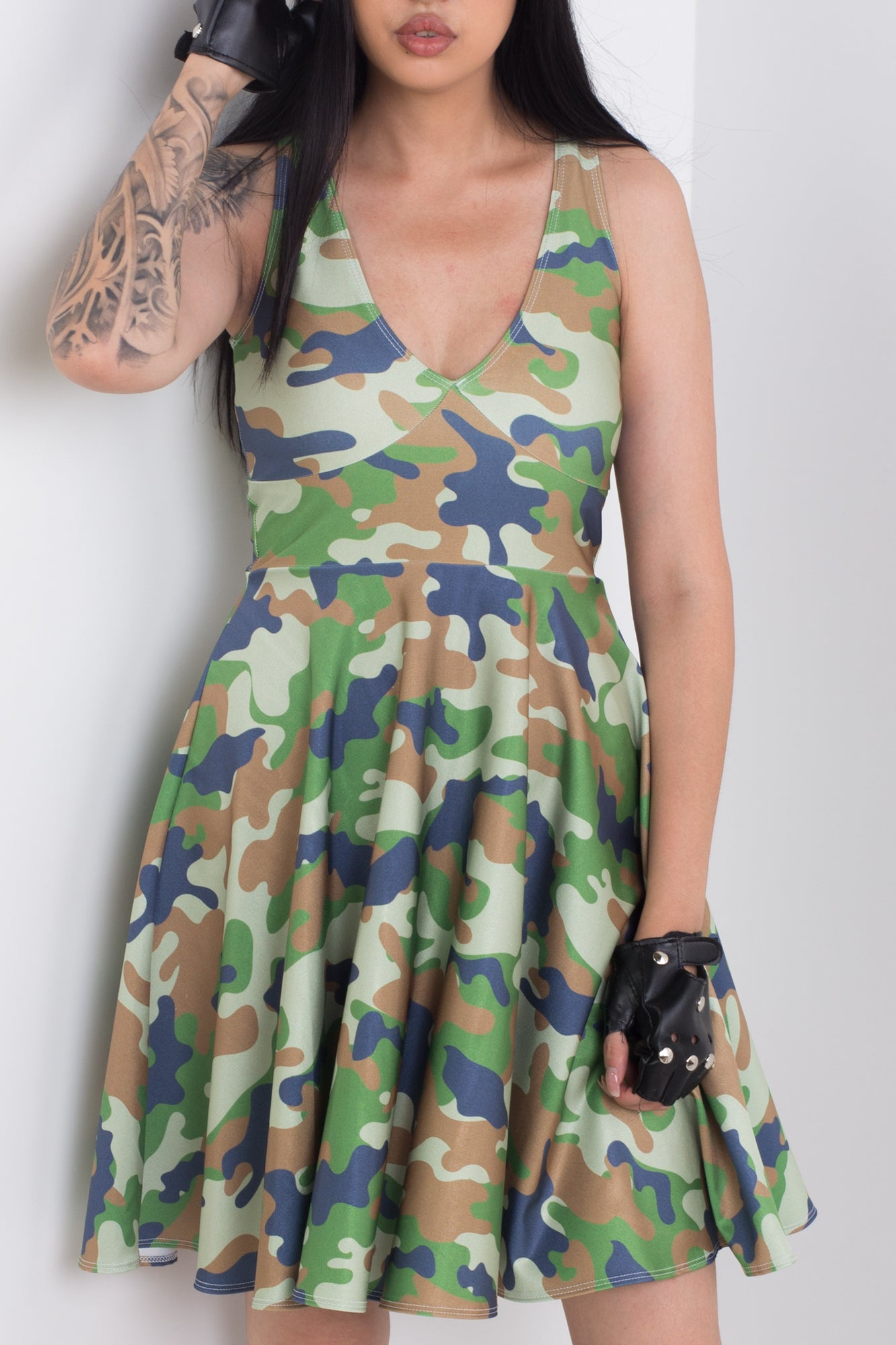 Soldier Midi Happy Hour Dress