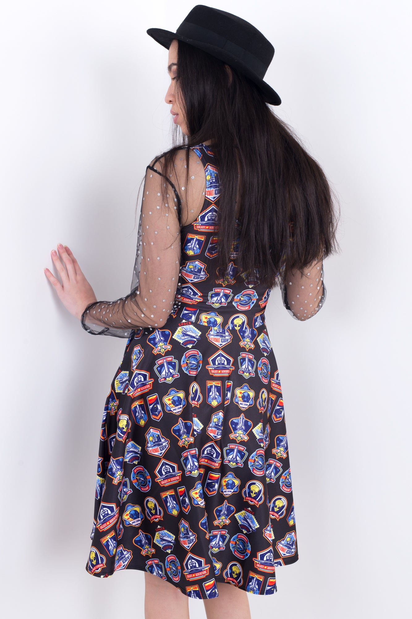 Space Camp Cadet Midi Skater Dress